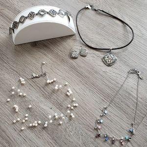 Lia Sophia 5 piece jewelry lot